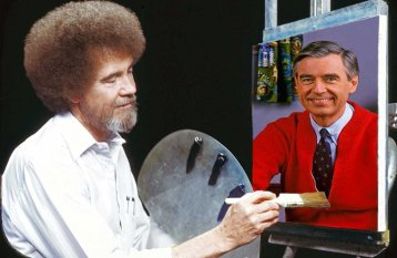 Bob Ross and Mister Rogers